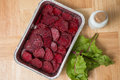 Beetroot gratin in aluminum bowl Royalty Free Stock Photo