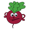 Beetroot healthy eating hand drawn isolated white background Royalty Free Stock Photos