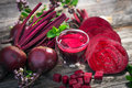 Beetroot juice on wooden background Stock Photos