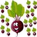 Beetroot with many expressions cartoon isolated on white background Royalty Free Stock Images