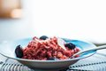 Beetroot risotto Royalty Free Stock Photo