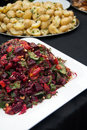 Beetroot salad and potatoes Royalty Free Stock Image