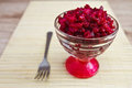 Beetroot salad in a salad bowl Royalty Free Stock Images