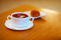 Beetroot soup with dumplings Stock Photography