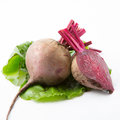 Beets with leaves Royalty Free Stock Photo