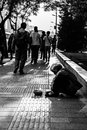 Beggaring的叫化子 免版税库存照片