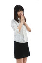Begging for chance mercy of the girl asian business woman Stock Images