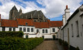 Begijnhof kortrijk belgium beguinage in medieval architecture and cathedral Stock Photography