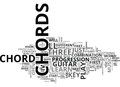 Beginner On Guitar Learn These Ten Chords Word Cloud