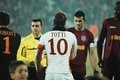 Beginning of AS Roma - CFR Cluj match Royalty Free Stock Photo