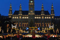 Beginning of Christmas time market in Vienna Royalty Free Stock Photo