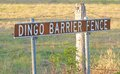 The beginning of the dingo fence queensland australia km barrier just outside bell Stock Images
