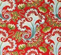 Original textile fabric ornament of the Russian Modern style. Crock is hand-painted with gouache. Royalty Free Stock Photo