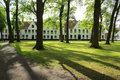 Beguinage Convent courtyard Bruges Belgium Royalty Free Stock Photo