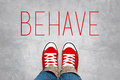 Behave Reminder for Young Person, Top View Royalty Free Stock Photo