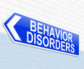Behavior disorders concept illustration depicting a sign with a behaviour Stock Images