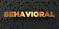 Behavioral - Gold text on black background - 3D rendered royalty free stock picture