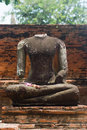 Beheaded Buddha image in Ayuttaya, Thailand Stock Photo