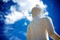 Behind the buddha statue of wat phra thart jom khitti Royalty Free Stock Image