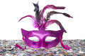 Behind The Purple Mask Royalty Free Stock Photo