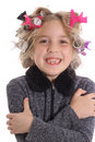 Behind the scene beauty child vertical Royalty Free Stock Photography