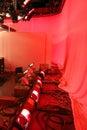 Behind the scenes tv set a shot inside a studio Stock Photos