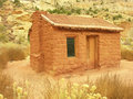 Behunin cabin capitol reef national park utah usa Stock Photo