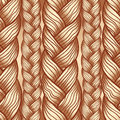 Beige abstract seamless hair pattern Stock Image