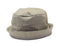 Beige baby panama hat Stock Photo