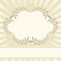 Beige background with floral ornaments Royalty Free Stock Image