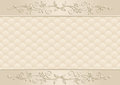 Beige background with floral ornaments Royalty Free Stock Photo