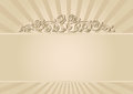 Beige background with floral ornaments Royalty Free Stock Photos