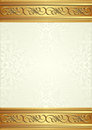Beige background with gold ornaments Royalty Free Stock Photos