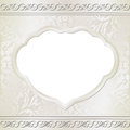 Beige background ornaments and transparent space insert for picture or text Royalty Free Stock Photos