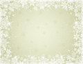 Beige background with snowflakes vector illustration Stock Photography