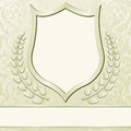 Beige background with vintage frame ornaments Stock Images