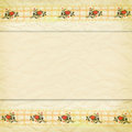 Beige border of lace with roses Stock Image
