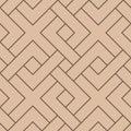 Beige and brown geometric print. Seamless pattern