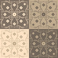 Beige and brown square tiles Royalty Free Stock Photo