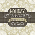Beige christmas background with snowflakes and lab label for text vector illustration Stock Image