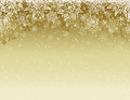 Beige christmas background with snowflakes and stars, vector