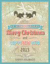 Beige christmas card with decorative ornament, vector illustrat
