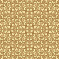 Beige colors art nouveau style plant pattern design original and symbol series Royalty Free Stock Image