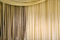 Beige curtain Stock Images
