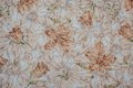 Beige flora fabric useful as background Royalty Free Stock Image