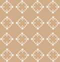 Beige Flourish Pattern Royalty Free Stock Photos