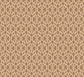 Beige forged seamless pattern on brown background editable Royalty Free Stock Photos