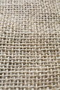 Beige jute macro detail of fabric Royalty Free Stock Photos