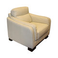 Beige leather armchair modern isolated with clipping path included Stock Images