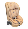 Beige leather baby auto car seat isolated Royalty Free Stock Photo
